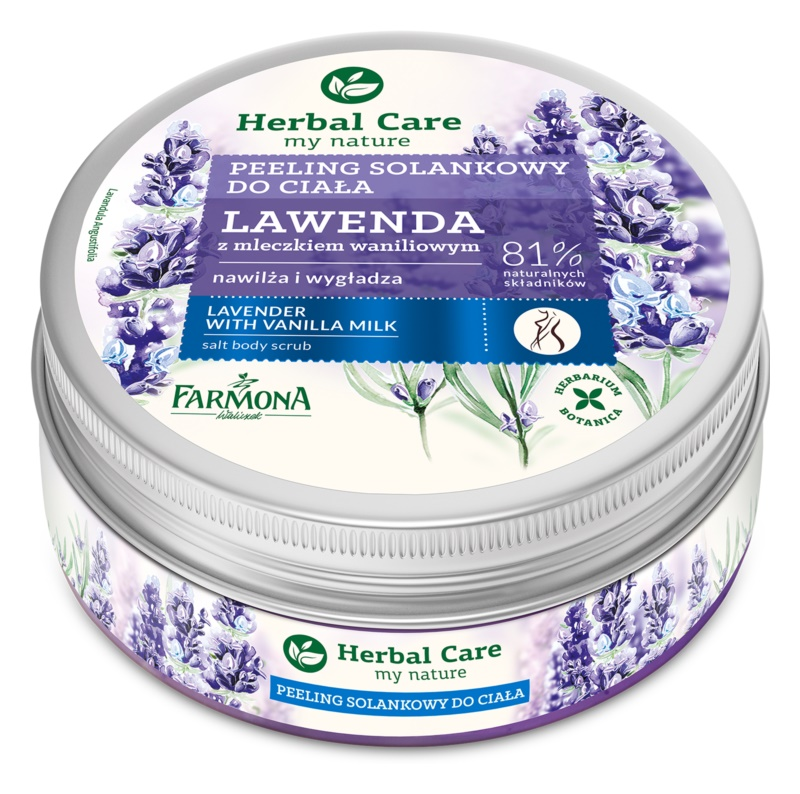 Farmona Herbal Care Lavender peeling solny o dzłałaniu nawilżającym