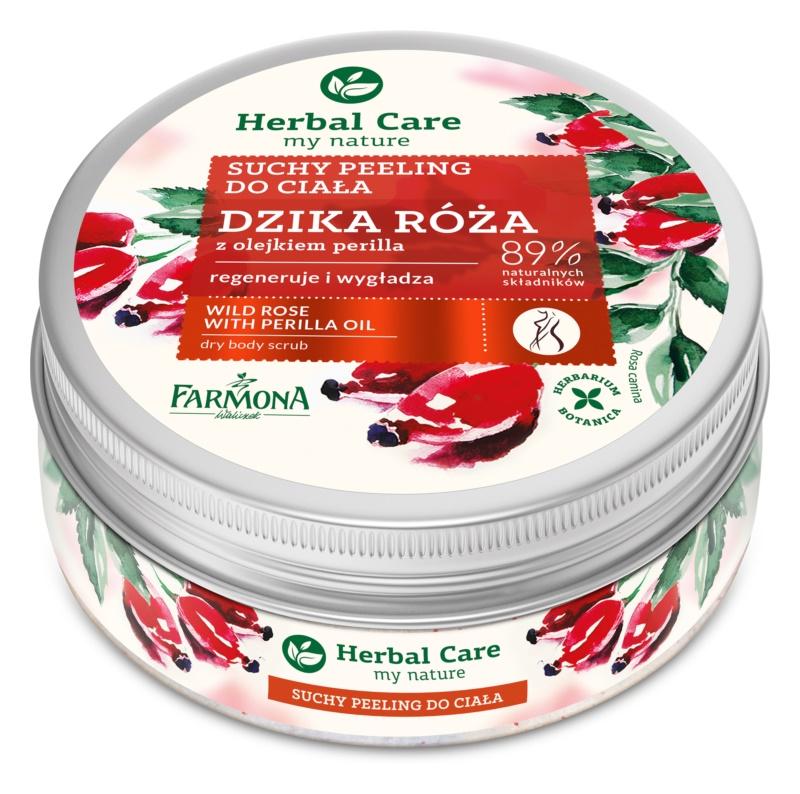 Farmona Herbal Care Wild Rose exfoliant de corp pentru matifiere efect regenerator
