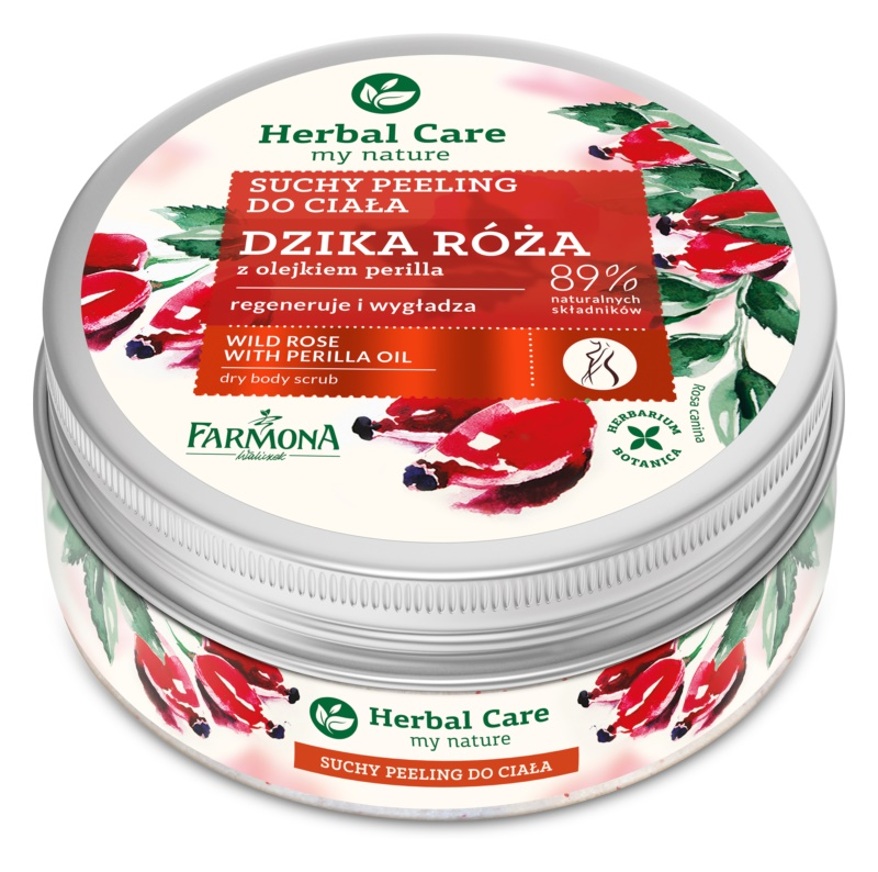 Farmona Herbal Care Wild Rose glättendes Body-Peeling  mit regenerierender Wirkung