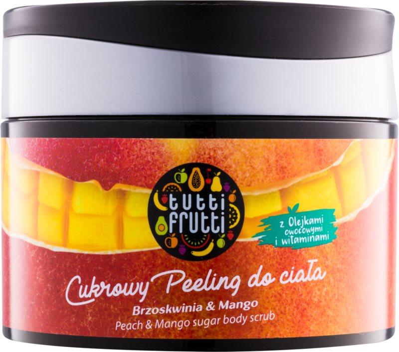 Farmona Tutti Frutti Peach & Mango exfoliant de corp cu zahăr
