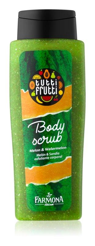 Farmona Tutti Frutti Melon & Watermelon telový peeling pre jemnú a hladkú pokožku