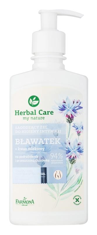 Farmona Herbal Care Cornflower żel łagodzący do higieny intymnej do skóry wrażliwej i podrażnionej