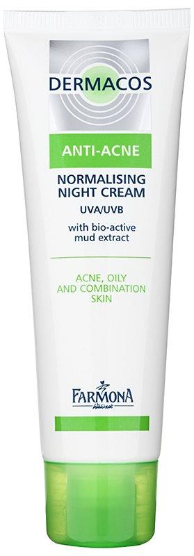 Farmona Dermacos Anti-Acne crème de nuit normalisante pour réguler la production de sébum
