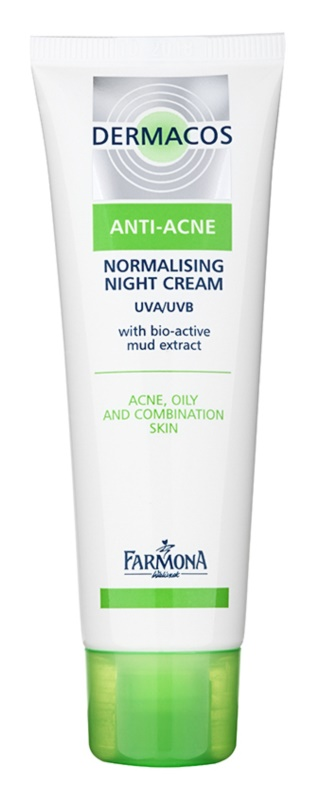 Farmona Dermacos Anti-Acne creme normalizante de noite para reduzir a produção de sebo