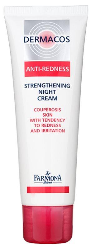 Farmona Dermacos Anti-Redness crema fortificante de noche para prevenir roturas y formación de nuevas varices