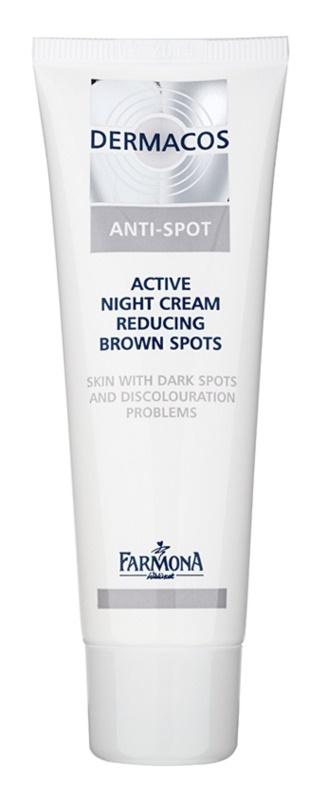Farmona Dermacos Anti-Spot Aktiv-Nachtcreme zur Reduktion von Pigmentflecken