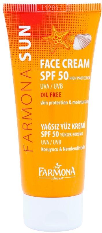 Farmona Sun захисний крем для жирної та комбінованої шкіри SPF50
