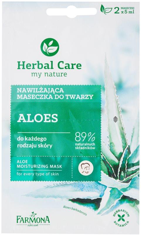 Farmona Herbal Care Aloe máscara hidratante para todos os tipos de pele