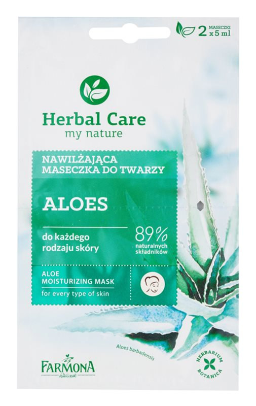 Farmona Herbal Care Aloe masque hydratant pour tous types de peau