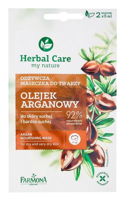 Farmona Herbal Care Argan Oil hranilna maska za suho do zelo suho kožo