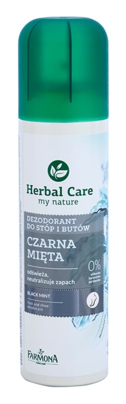 Farmona Herbal Care Black Mint Deodorant Spray For Legs And Shoe