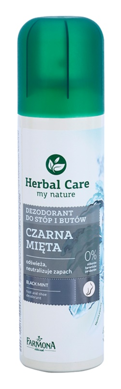 Farmona Herbal Care Black Mint desodorante en spray para pies y zapatos