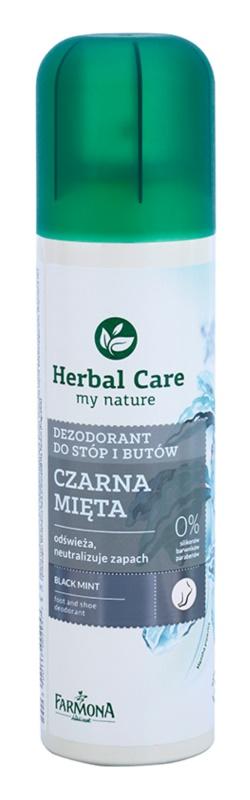 Farmona Herbal Care Black Mint spray dezodor a lábra és a cipőbe