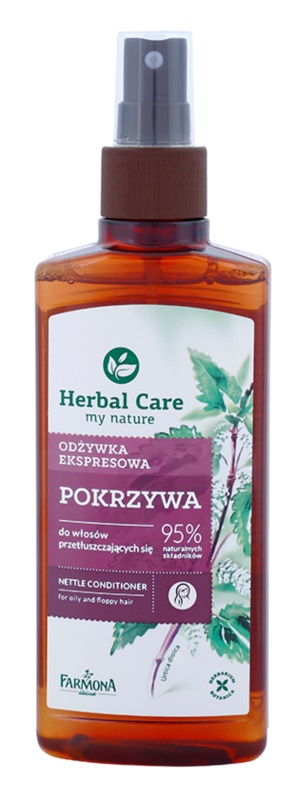 Farmona Herbal Care Nettle öblítést nem igénylő spray kondicionáló zsíros hajra és fejbőrre