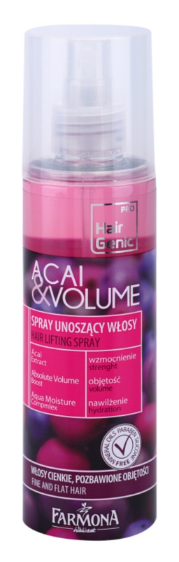 Farmona Hair Genic Acai & Volume spray pentru par pentru volum