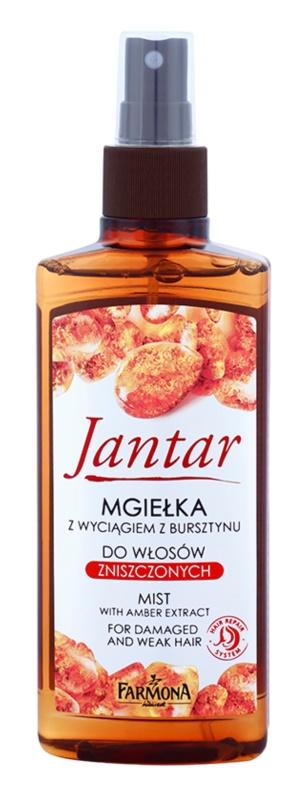 Farmona Jantar spray regenerador para tratamento de cabelo danificado