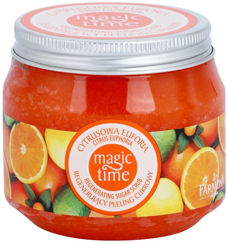 Farmona Magic Time Citrus Euphoria exfoliant corporal regenerator cu zahăr