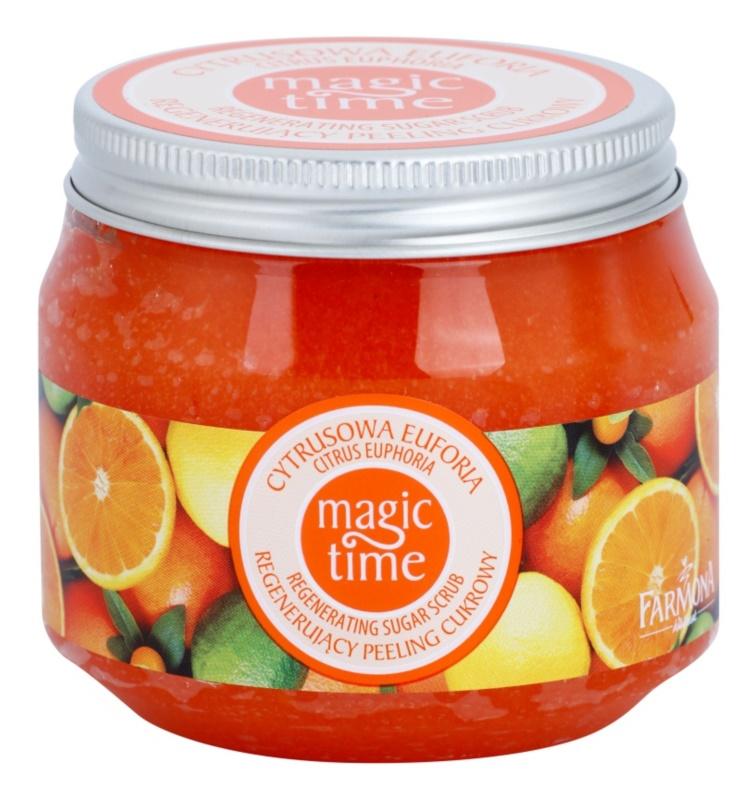 Farmona Magic Time Citrus Euphoria tělový peeling s cukrem pro regeneraci pokožky