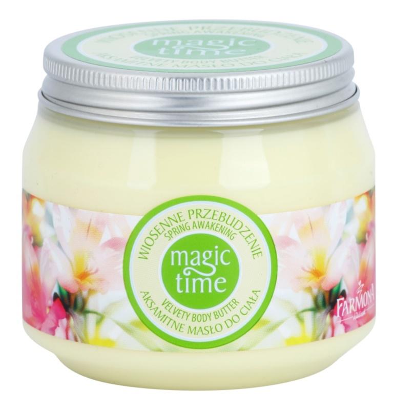 Farmona Magic Time Spring Awakening bársonyos vaj a testre a táplálásért és hidratálásért