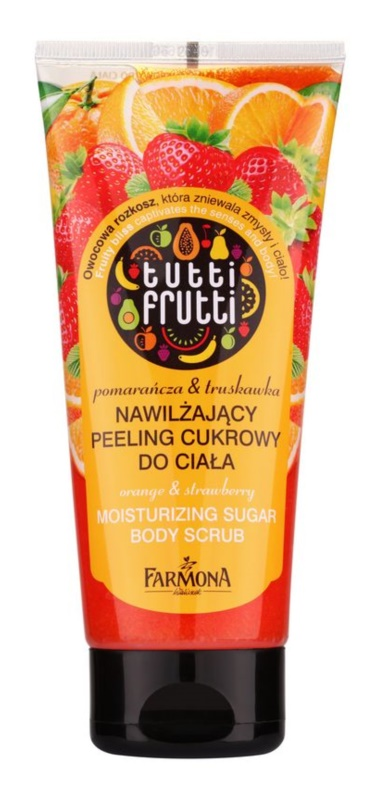 Farmona Tutti Frutti Orange & Strawberry hidratáló cukoros peeling  testre