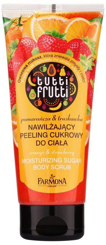 Farmona Tutti Frutti Orange & Strawberry hydratační cukrový peeling na tělo