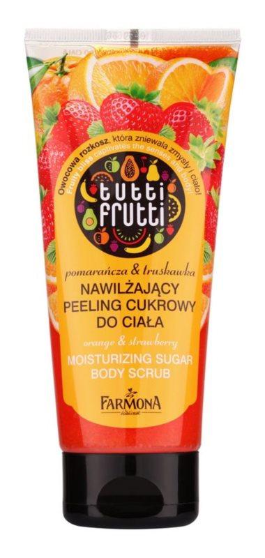 Farmona Tutti Frutti Orange & Strawberry peeling cukrowy nawilżający do ciała