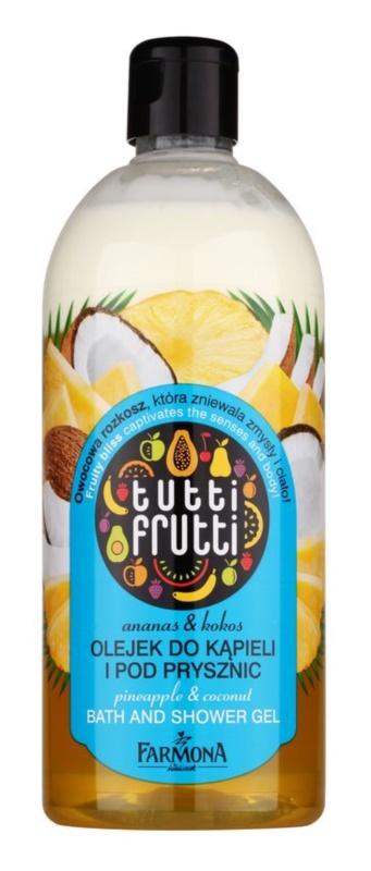 Farmona Tutti Frutti Pineapple & Coconut Gel-Öl für Bad und Dusche