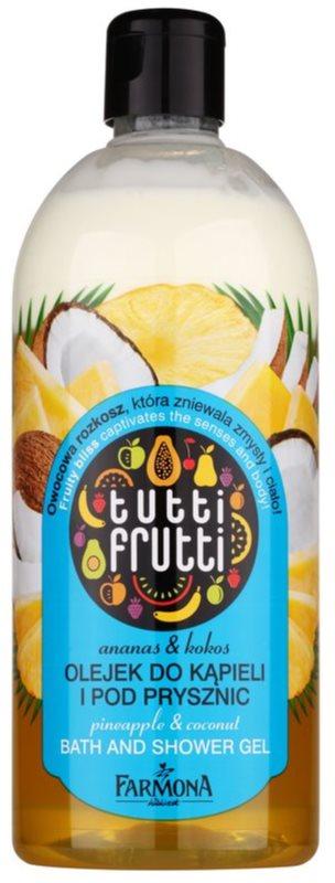 Farmona Tutti Frutti Pineapple & Coconut sprchový a koupelový gelový olej