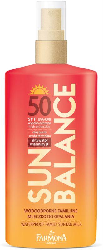 Farmona Sun Balance ochranné opaľovacie mlieko pre celú rodinu SPF 50