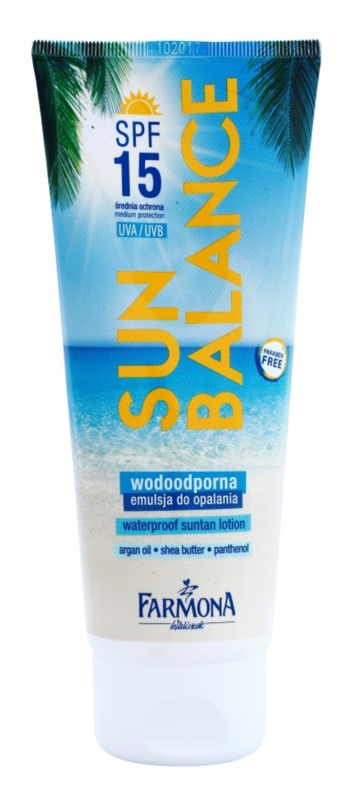 Farmona Sun Balance latte abbronzante SPF 15