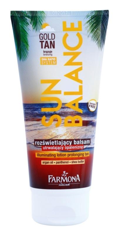 Farmona Sun Balance bronzujúce mlieko predlžujúce opálenie