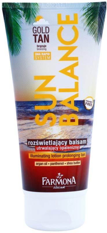 Farmona Sun Balance lait bronzant pour prolonger le bronzage