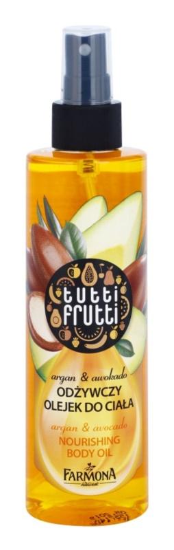 Farmona Tutti Frutti Argan & Avocado óleo corporal em spray com efeito nutritivo