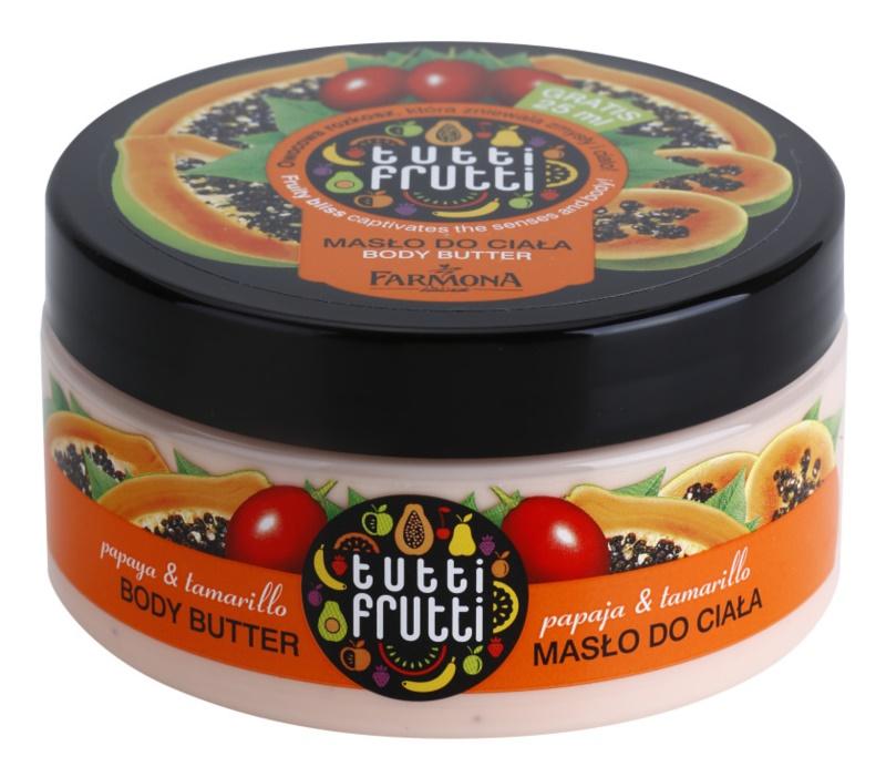 Farmona Tutti Frutti Papaja & Tamarillo manteca corporal