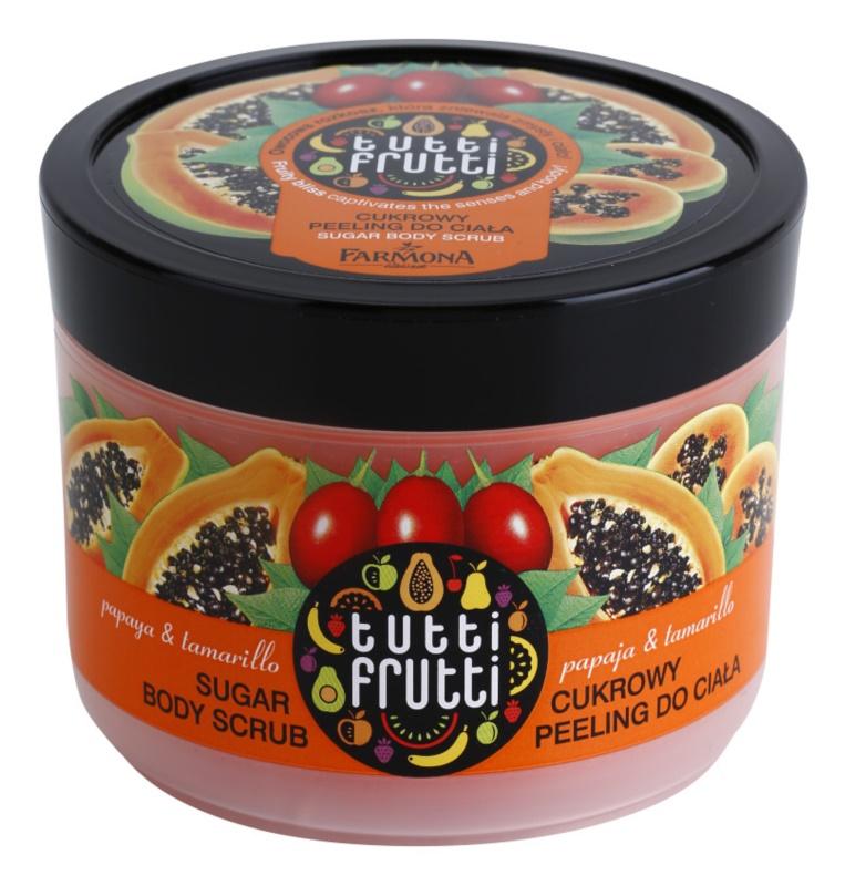 Farmona Tutti Frutti Papaja & Tamarillo Zucker-Peeling für den Körper