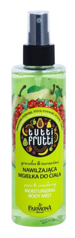 Farmona Tutti Frutti Pear & Cranberry Body Mist mit feuchtigkeitsspendender Wirkung