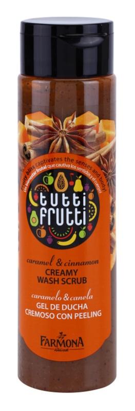 Farmona Tutti Frutti Caramel & Cinnamon peeling cremoso de banho