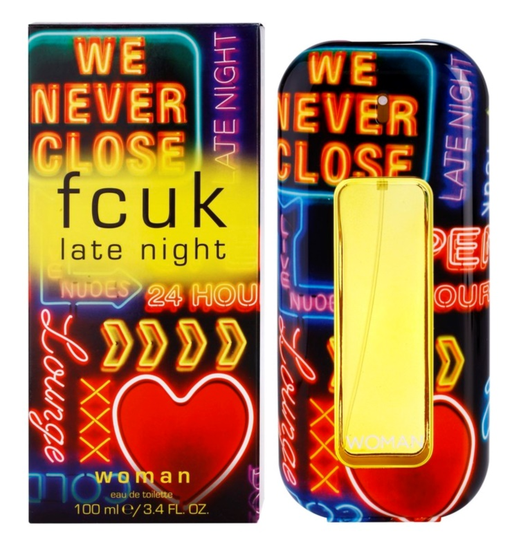 Fcuk Late Night Her Eau de Toilette für Damen 100 ml
