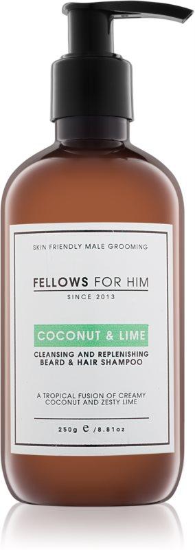 Fellows for Him Coconut & Lime šampón na vlasy a fúzy