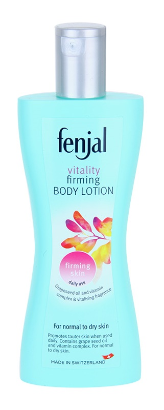 Fenjal Vitality feszesítő és tápláló testápoló tej normál és száraz bőrre