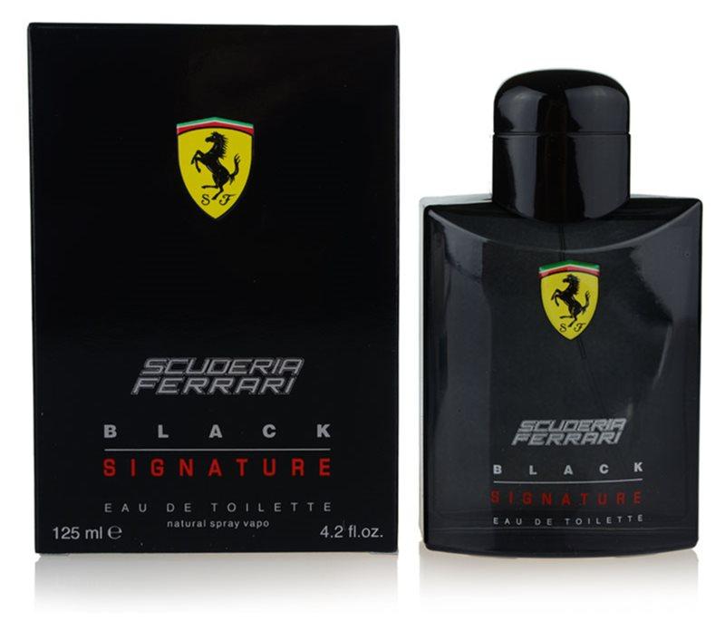Ferrari Scuderia Ferrari Black Signature toaletní voda pro muže 125 ml