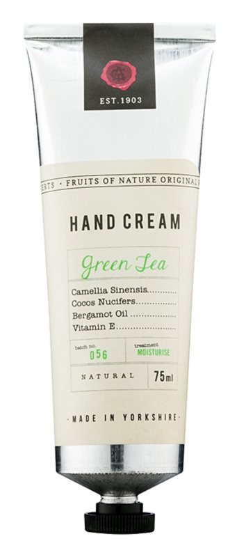 Fikkerts Fruits of Nature Green Tea intensive, hydratisierende Creme für Hände und Fingernägel