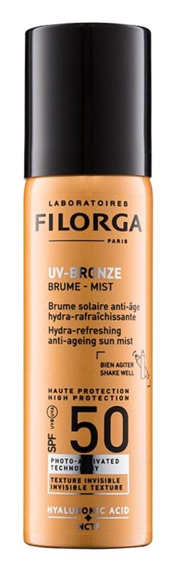 Filorga UV-Bronze ochranná hydratačná a osviežujúca hmla proti príznakom starnutia pleti SPF 50