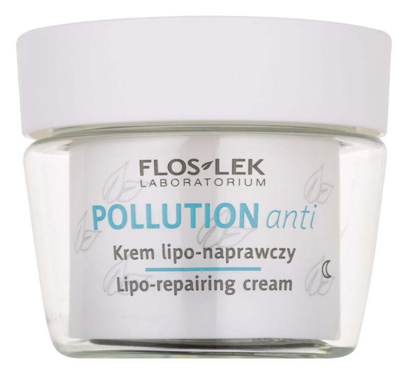 FlosLek Laboratorium Pollution Anti crema regeneradora de noche