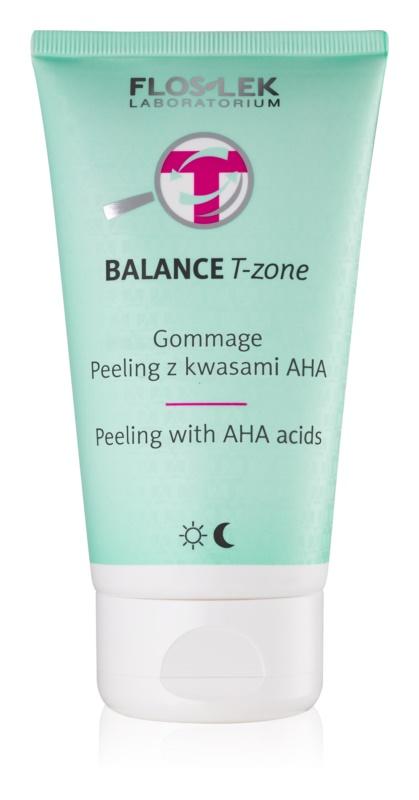 FlosLek Laboratorium Balance T-Zone gommage pour peaux mixtes