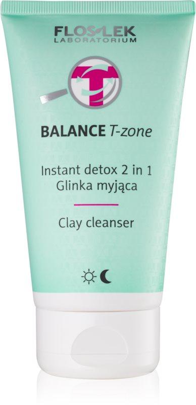 FlosLek Laboratorium Balance T-Zone čisticí emulze a maska pro smíšenou pleť