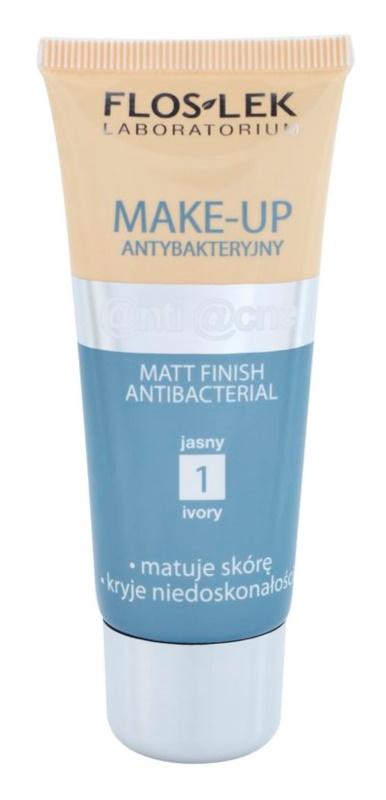 FlosLek Laboratorium Anti Acne fond de teint matifiant pour peaux grasses sujettes à l'acné