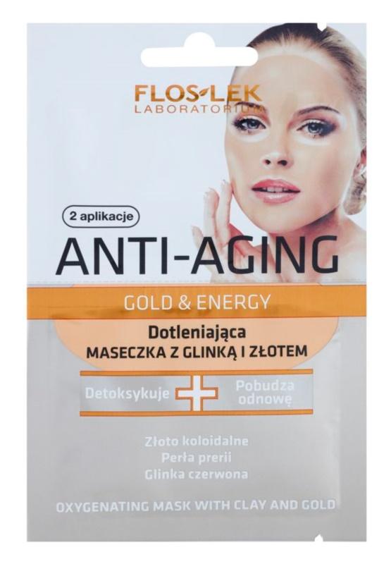 FlosLek Laboratorium Anti-Aging Gold & Energy masque oxygénant à l'or et argile