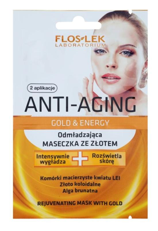 FlosLek Laboratorium Anti-Aging Gold & Energy pomlajevalna maska z zlatom