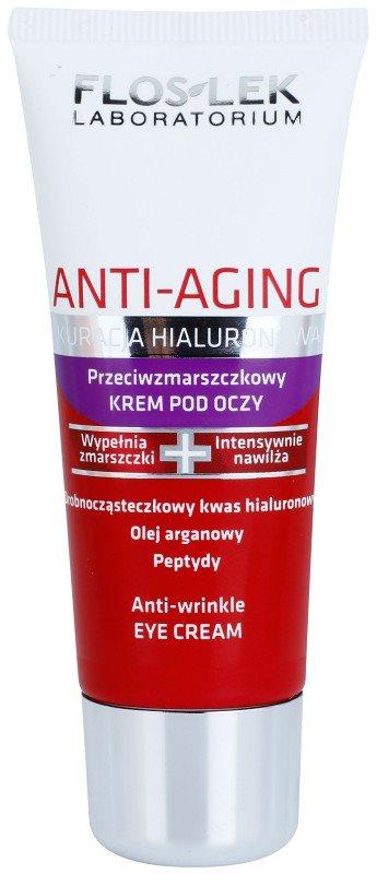 FlosLek Laboratorium Anti-Aging Hyaluronic Therapy regeneračný očný krém s vyhladzujúcim efektom